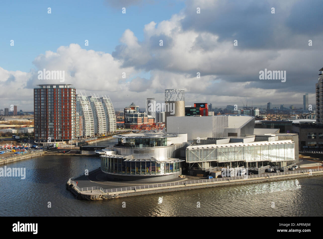 Photographer Howard Barlow SALFORD QUAYS showing LOWRY THEATRE - Stock Image
