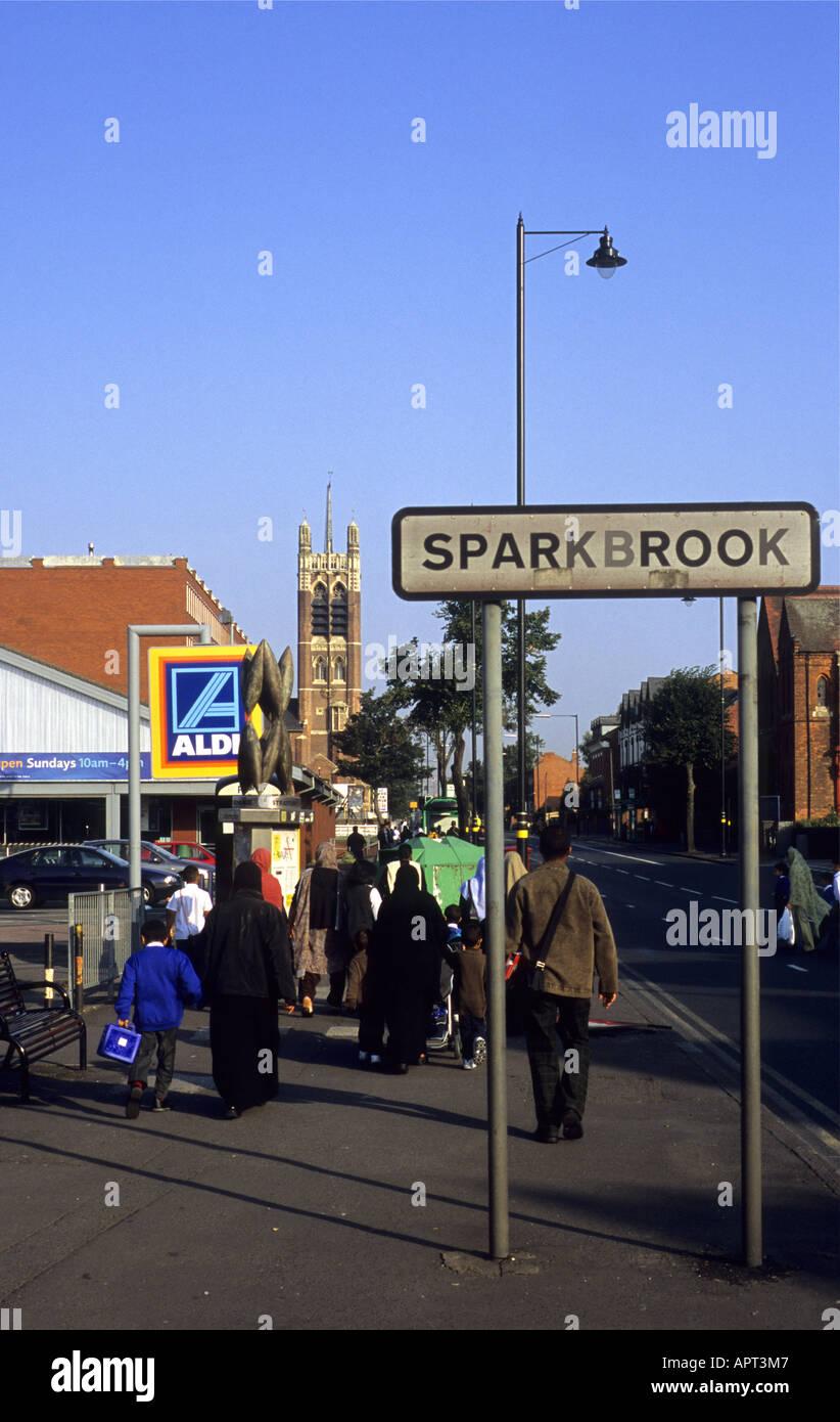 Stratford Road, Sparkbrook, Birmingham, West Midlands, England, UK - Stock Image