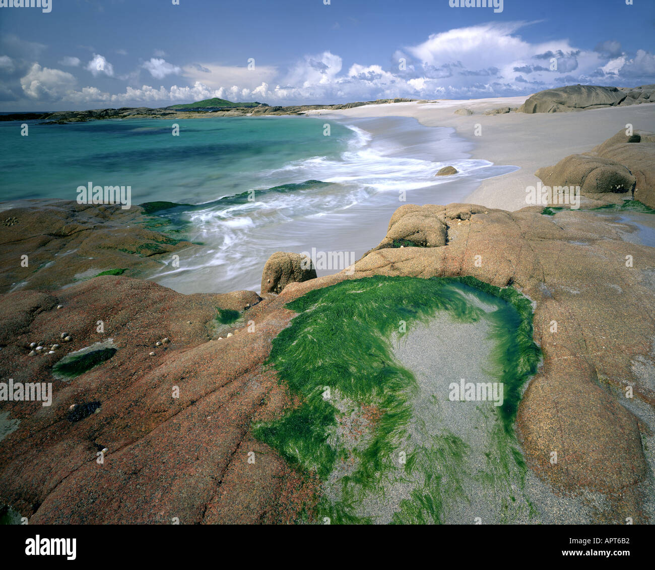 IE - CO. GALWAY: Beach on Omey Island - Stock Image