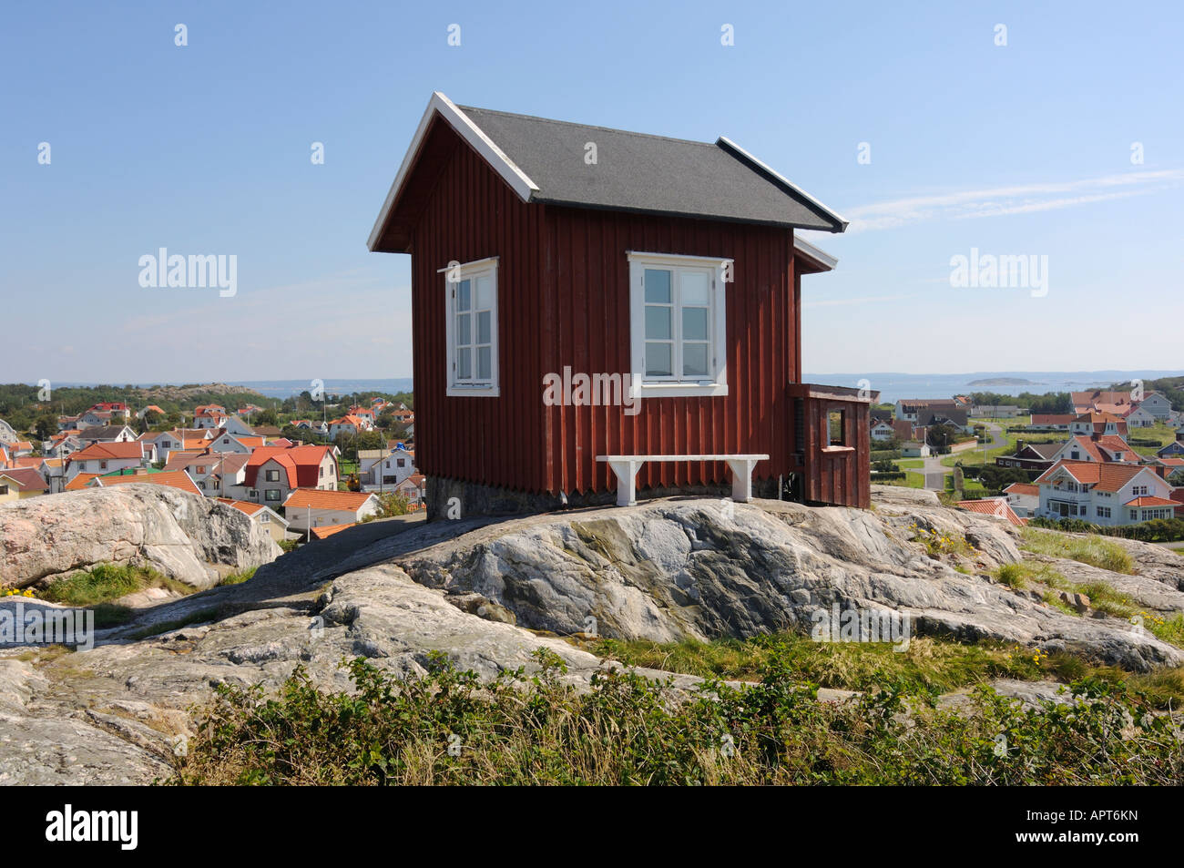 Old pilot house at Vrångö - Stock Image