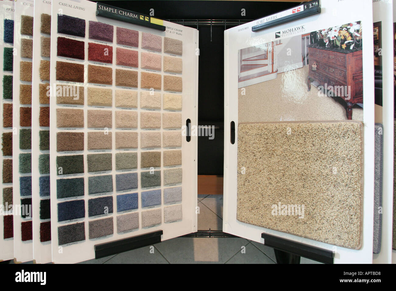 North Miami Florida Dolphin Carpet And Tile Sample Display Colors Choices