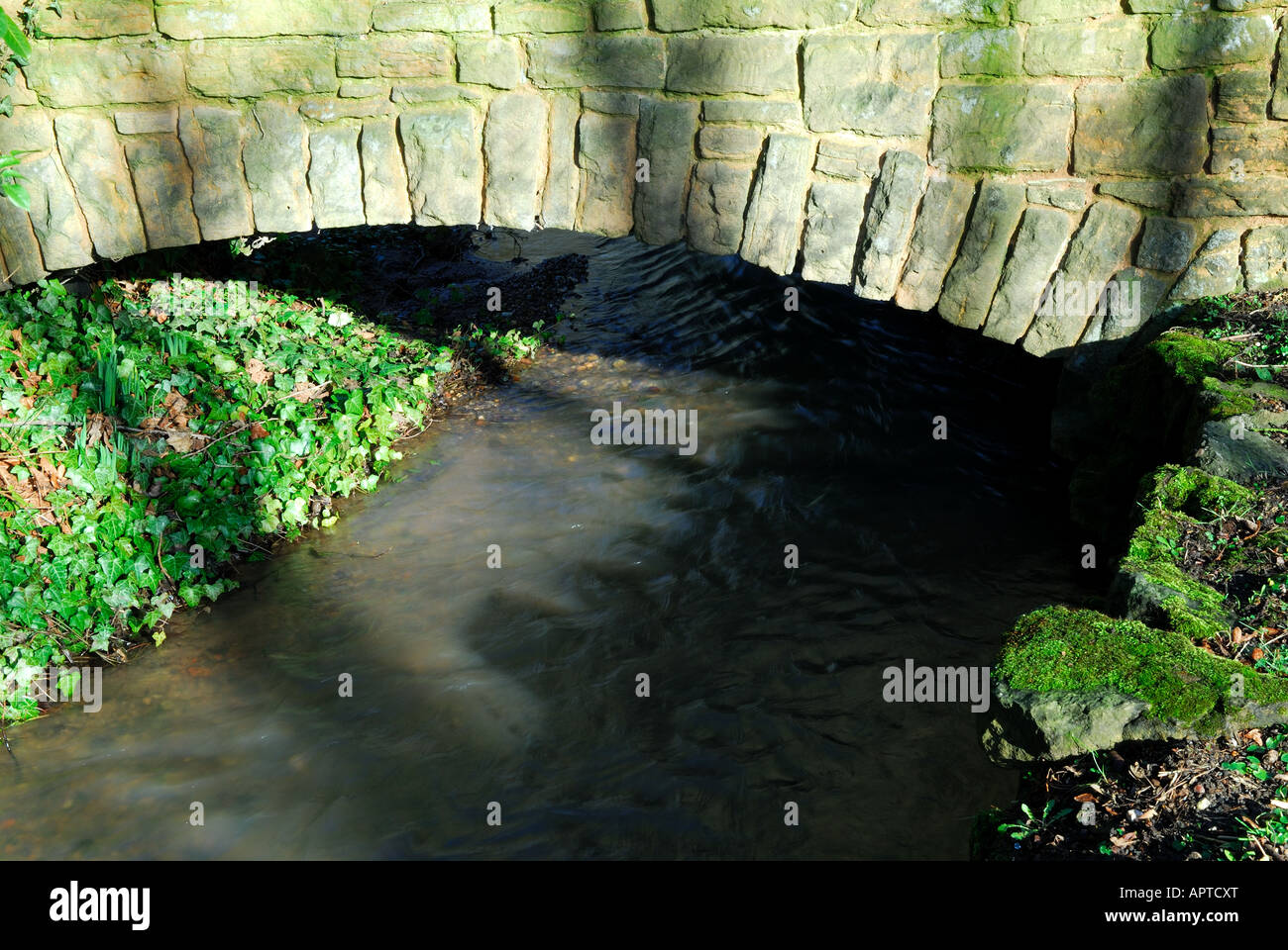 Water under the bridge. - Stock Image