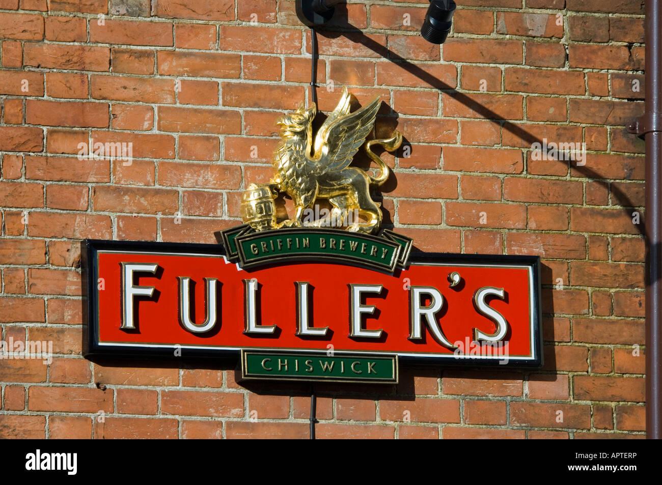 Fuller's brewery logo Farnham Surrey - Stock Image
