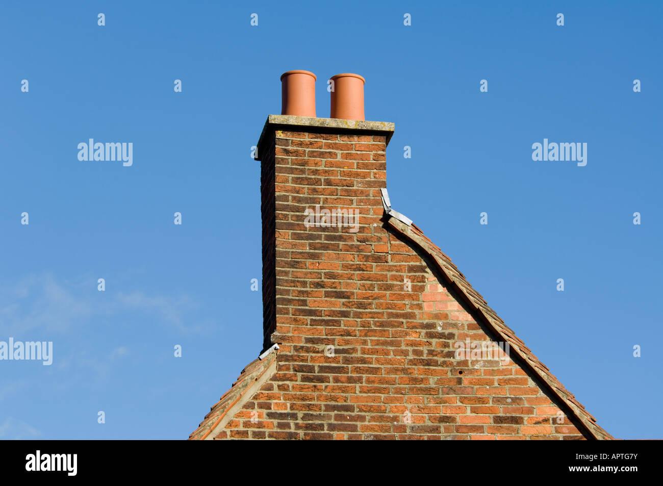Chimney pots Farnham Surrey - Stock Image
