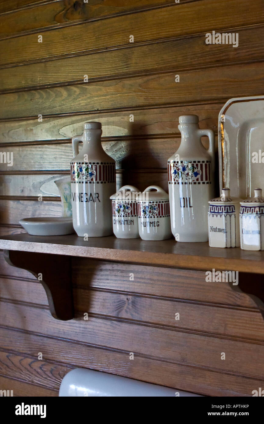 Early 20th Century Kitchen - Stock Image