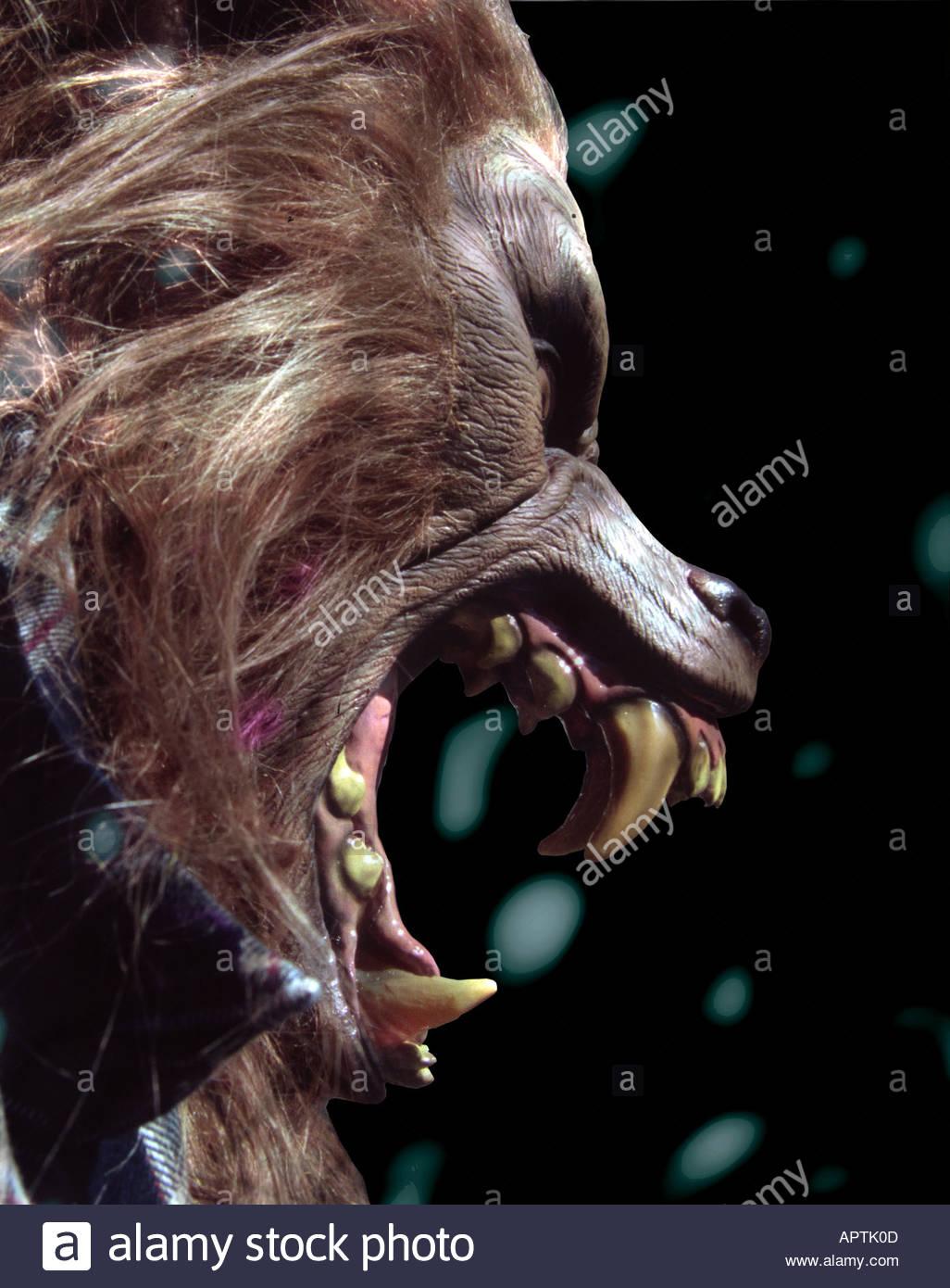 werewolf monster horror - Stock Image