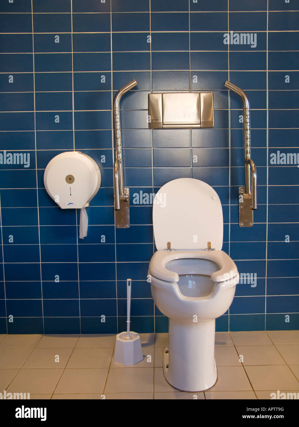 Public toilet with handrails for disabled people Stock Photo ...