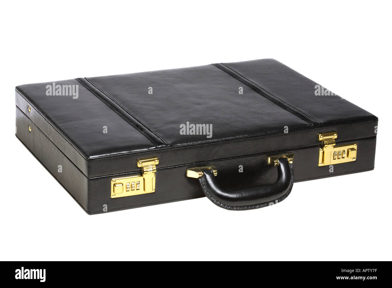 Leather Briefcase - Stock Image