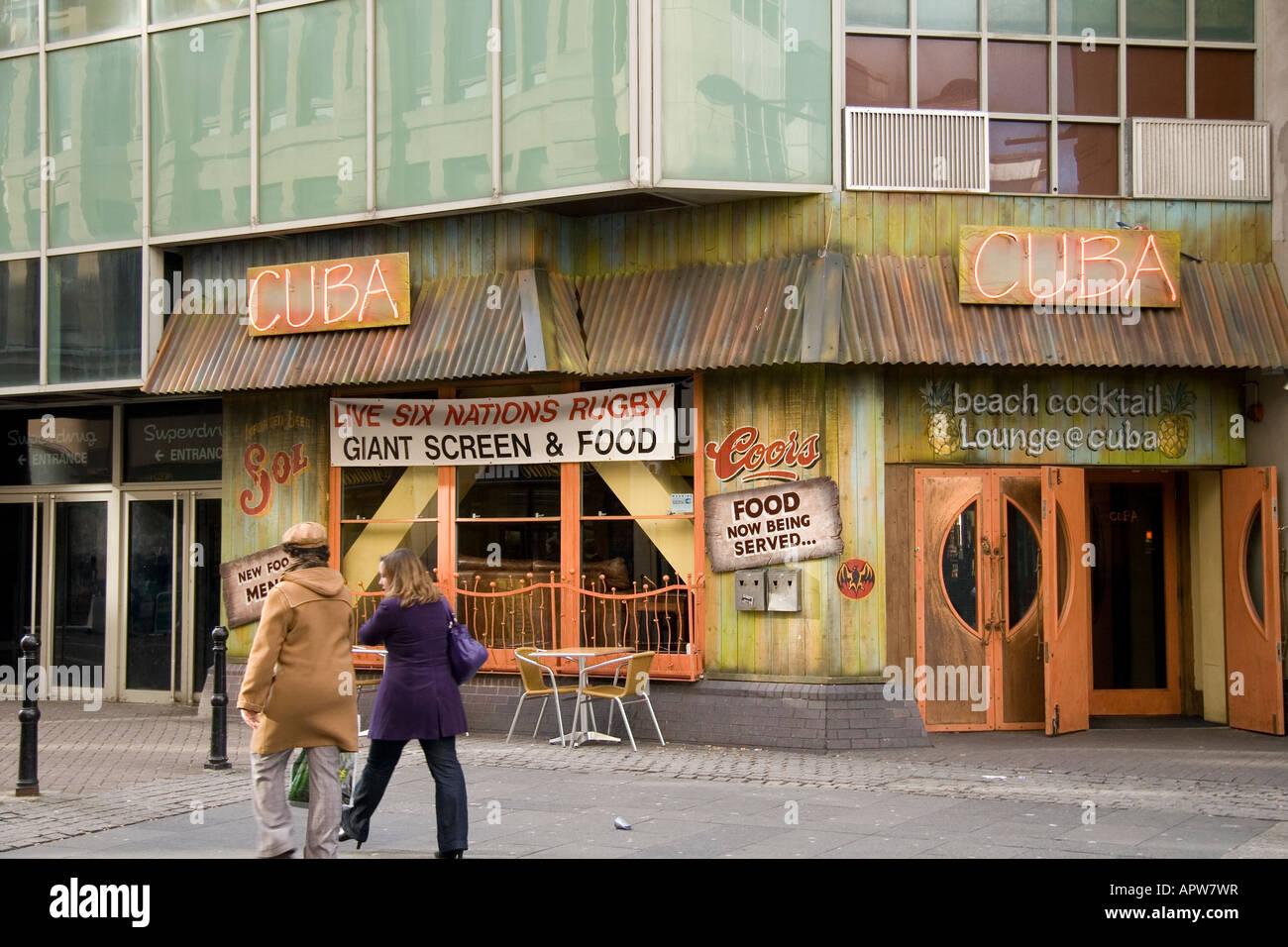 Bar Cuba The Friary Cardiff - Stock Image