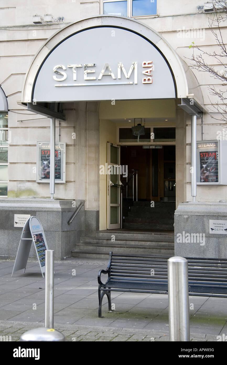 The Steam Bar, Hilton Hotel, Cardiff - Stock Image