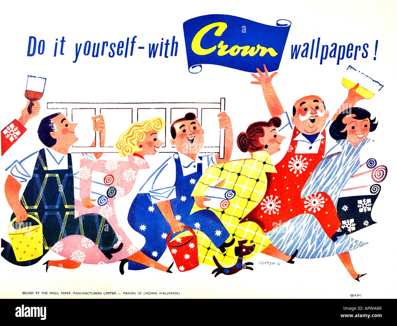 Crown Wallpaper Advertisement 1958 For Editorial Use Only - Stock Image