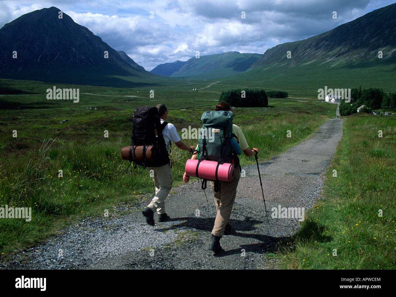 hikers Scotland - Stock Image