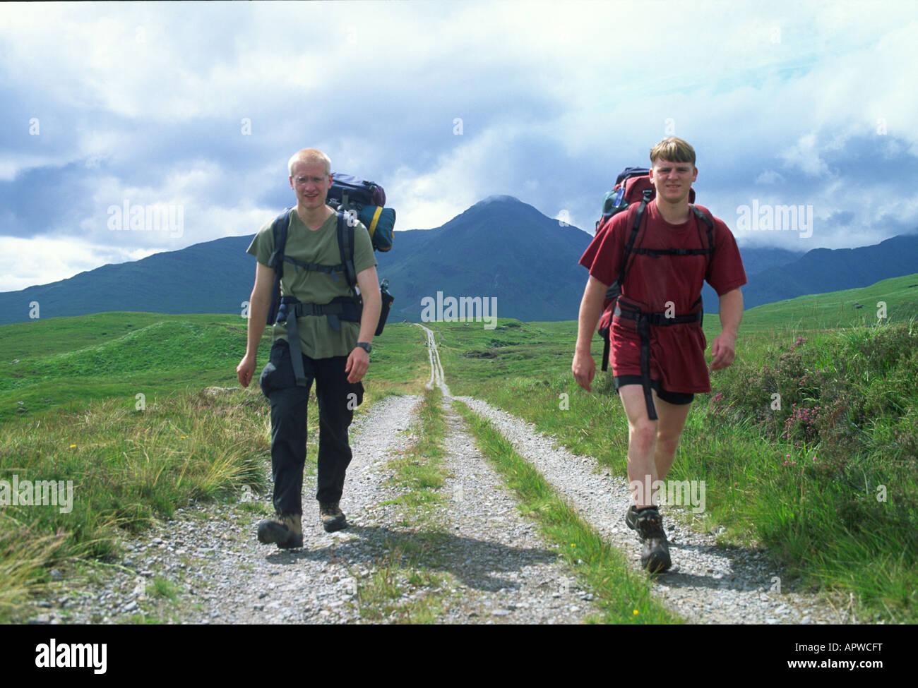 walking the west highland way scotland - Stock Image