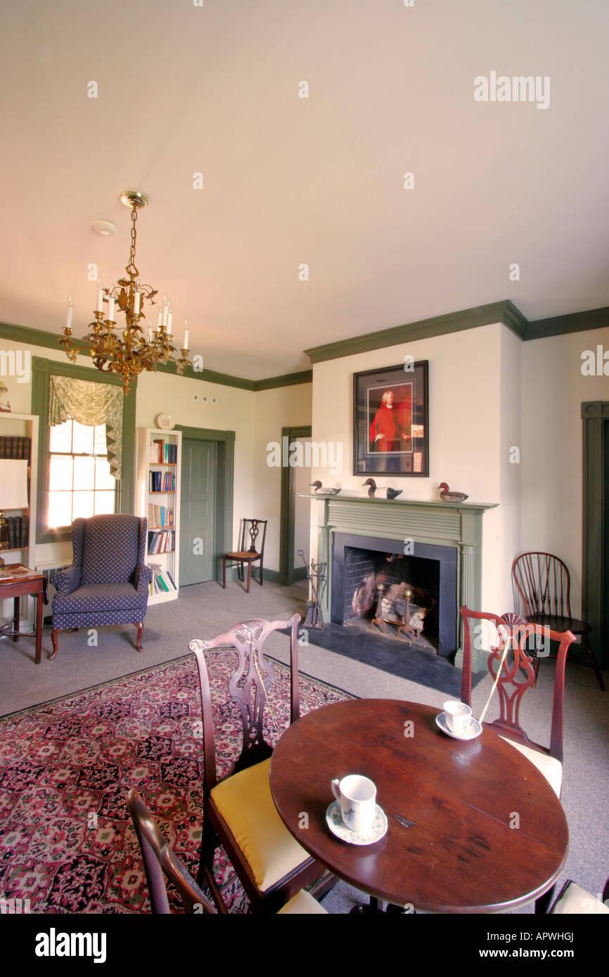 Parlor, Tudor House, Leonardtown, Maryland, USA - Stock Image