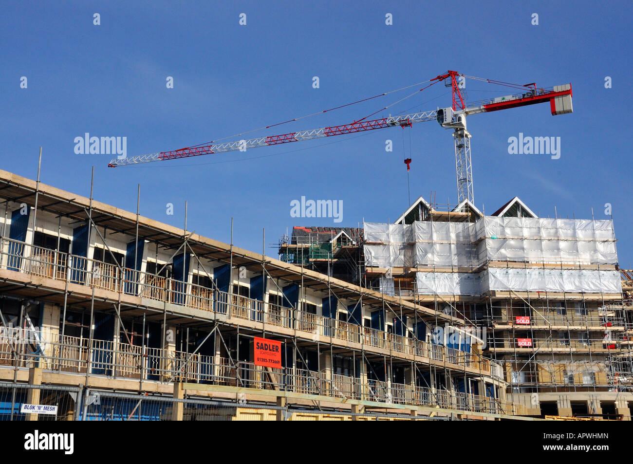 The development of new flats on Honeycombe Chine, Boscombe beach, Dorset, England, UK - Stock Image