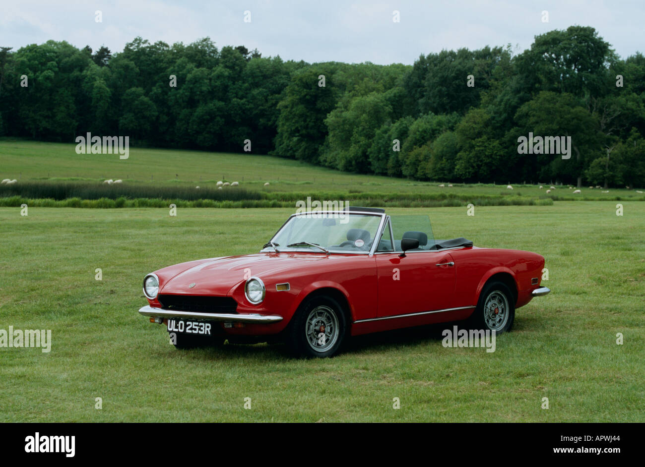 Fiat 124 Spider Stock Photos Images Alamy 1970 Convertible Built 1966 To 1982 Image