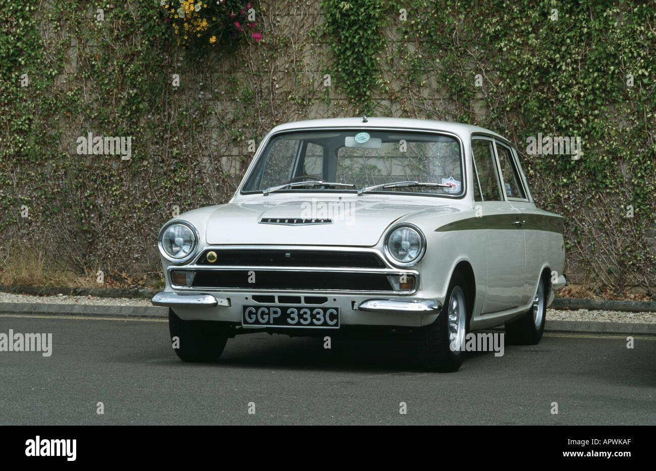 Ford/Lotus Cortina MK1 of 1965. Built 1963 to 1966 Stock Photo