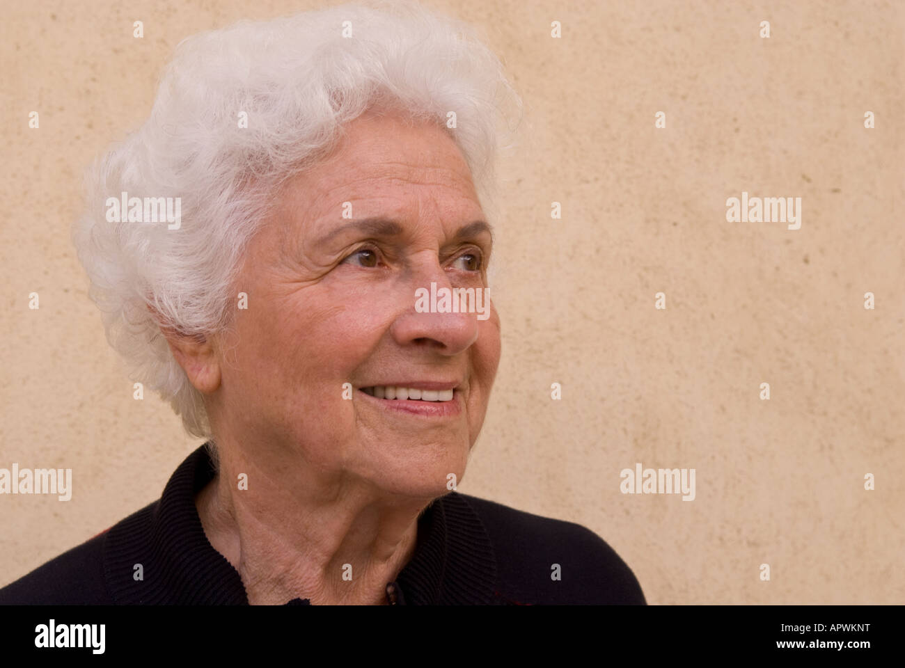 Portrait of an elegant older woman - Stock Image