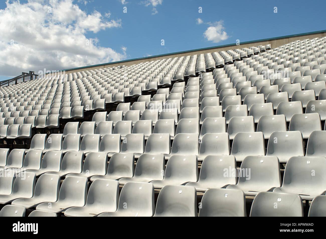 Empty sports stadium - Stock Image