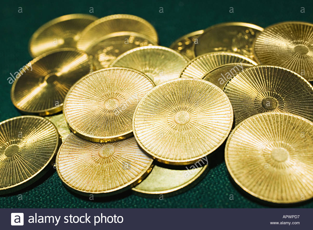 Pile of gold coins - Stock Image