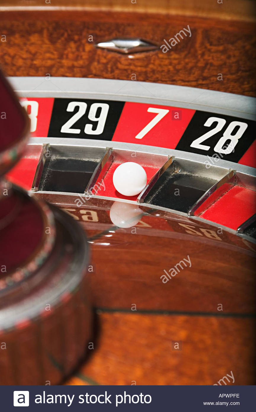 Roulette wheel - Stock Image