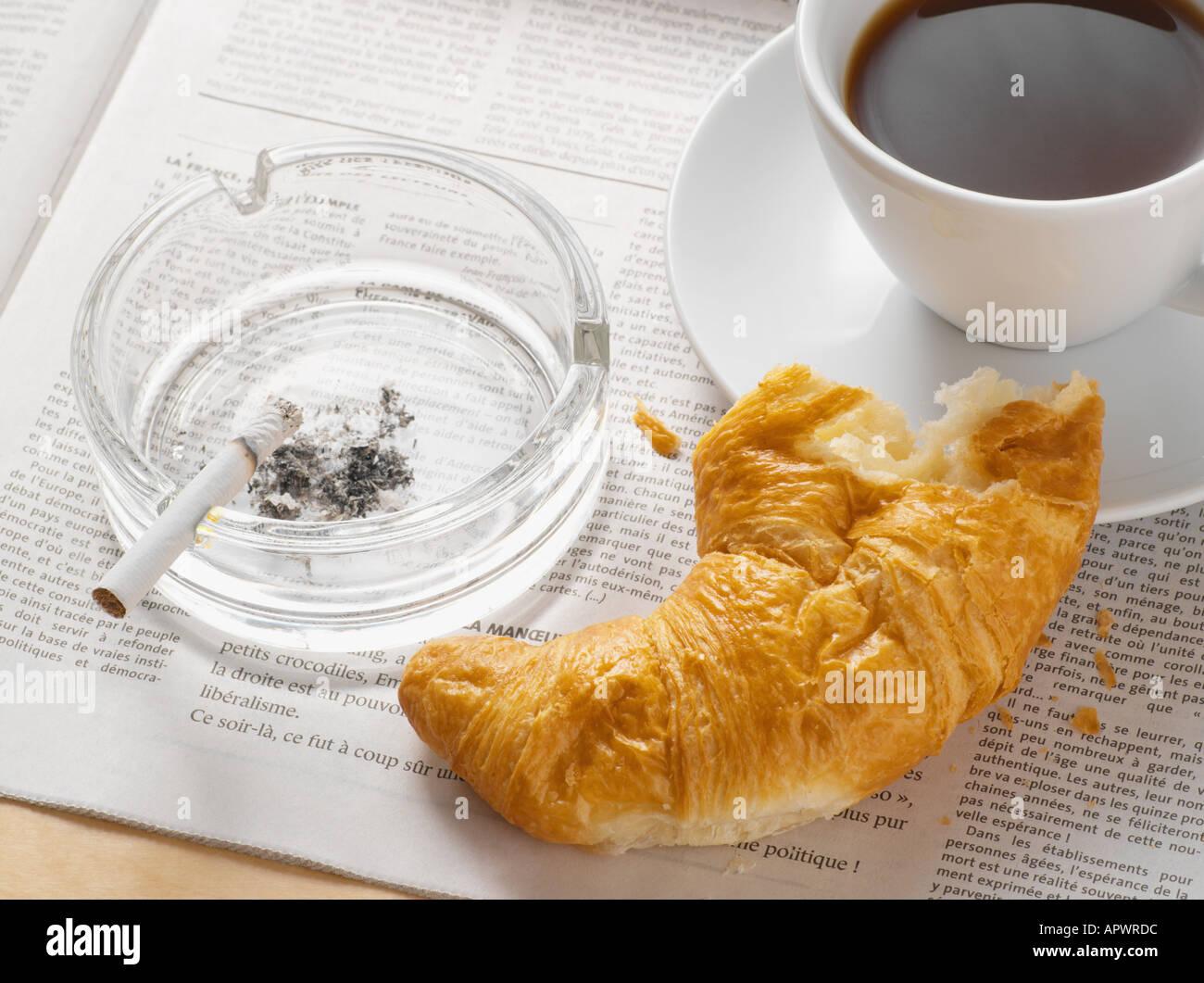 Breakfast items - Stock Image