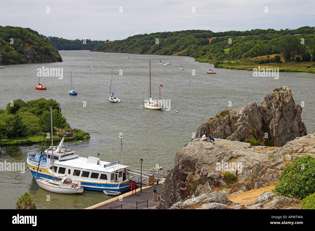 Port De La Roche Bernard And La Vilaine River From La Couronne La
