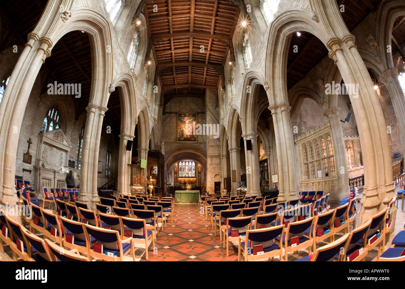 Burford church, Cotswolds, Oxfordshire - Stock Image