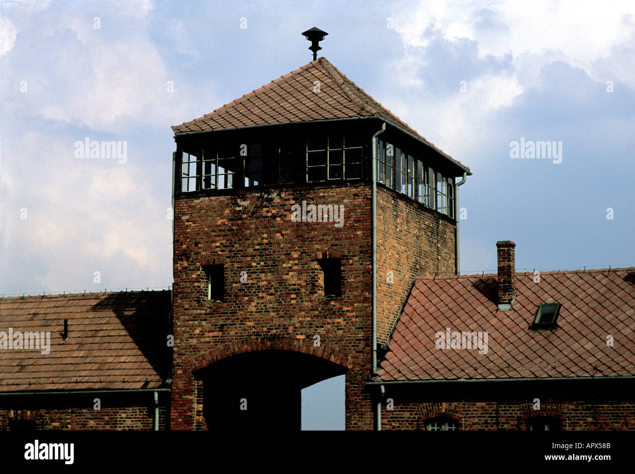 Hell s Gate name given to the entrance to Auschwitz Birkenau concentration camp now a state museum Oswiecim Poland Stock Photo