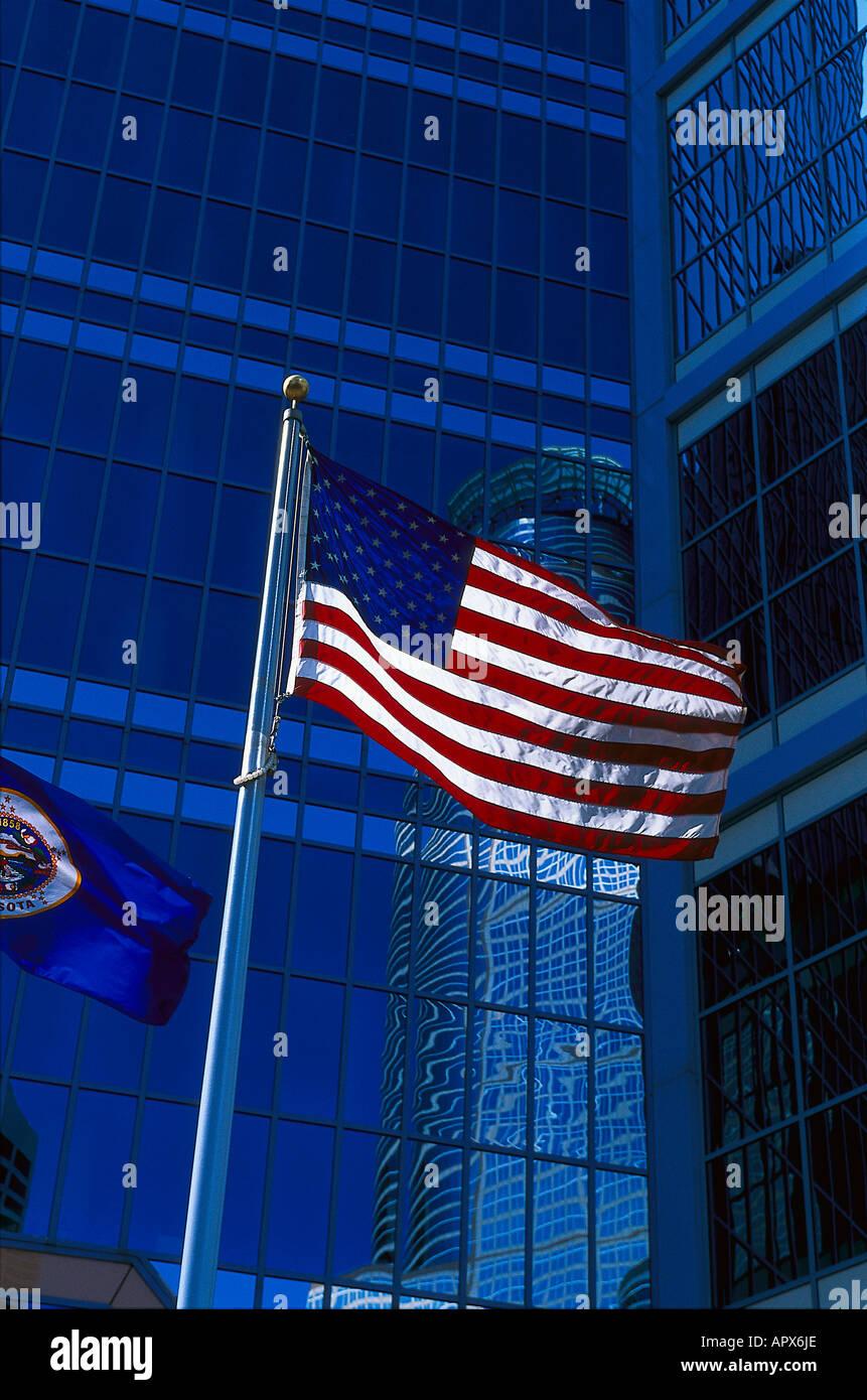 Flag, Stars and Stripes, Minneapolis, Minnesota USA - Stock Image