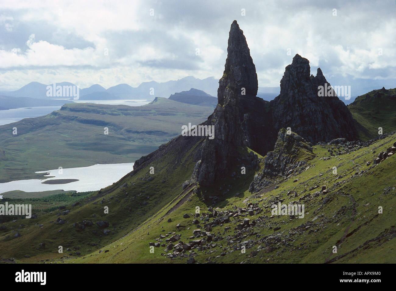 Old Man of Storr, Isle of Skye Scotland - Stock Image