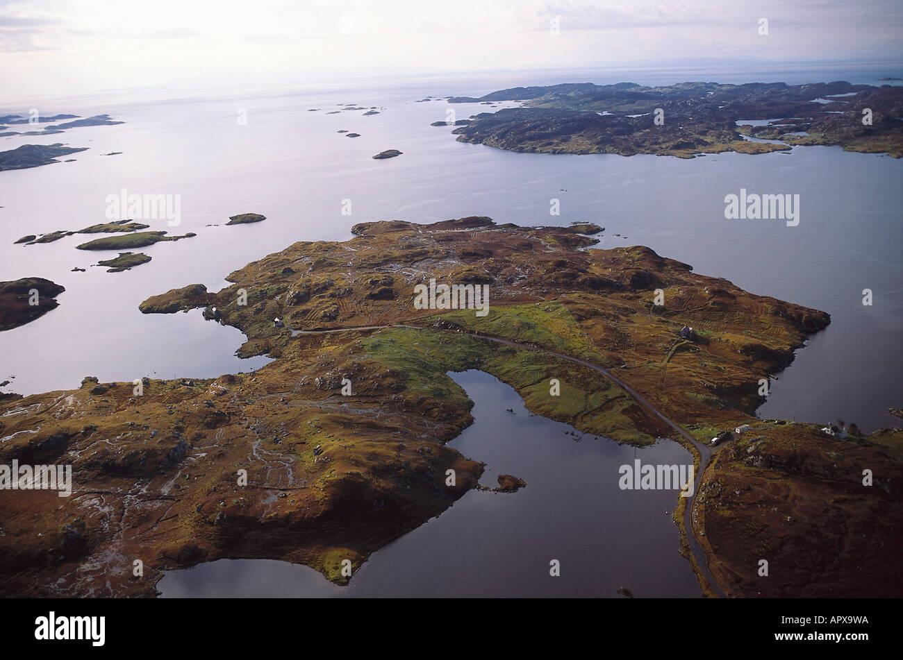 Aerial, Harris, Outer Hebrides Scotland - Stock Image