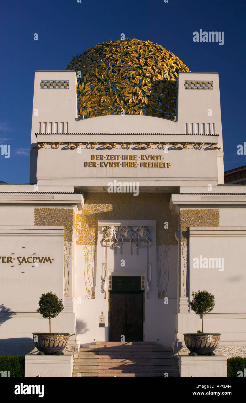 The Secession Building Art Museum, Vienna, Austria - Stock Image