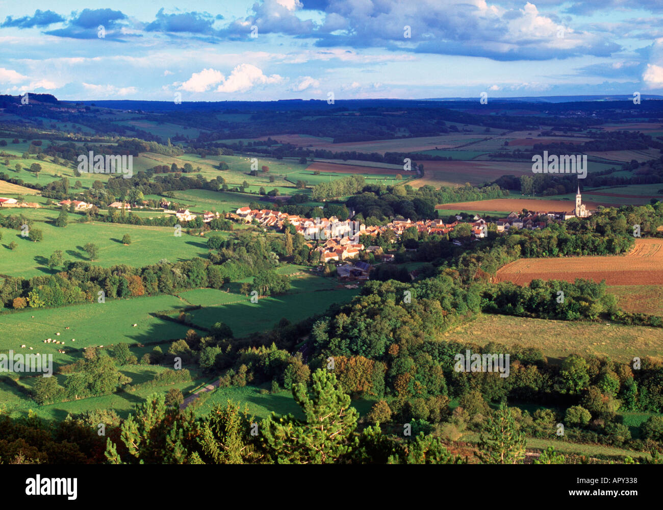 St. Pere, Chablis, Burgundy, France - Stock Image