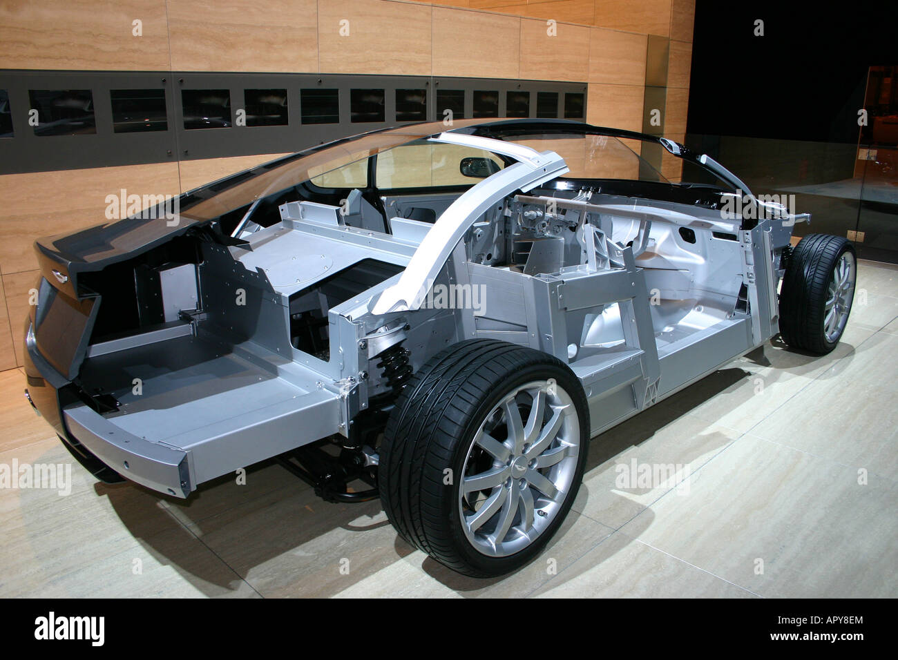 Aston Martin DB9 grand tourer body shell chassis framework ...   aston martin chassis