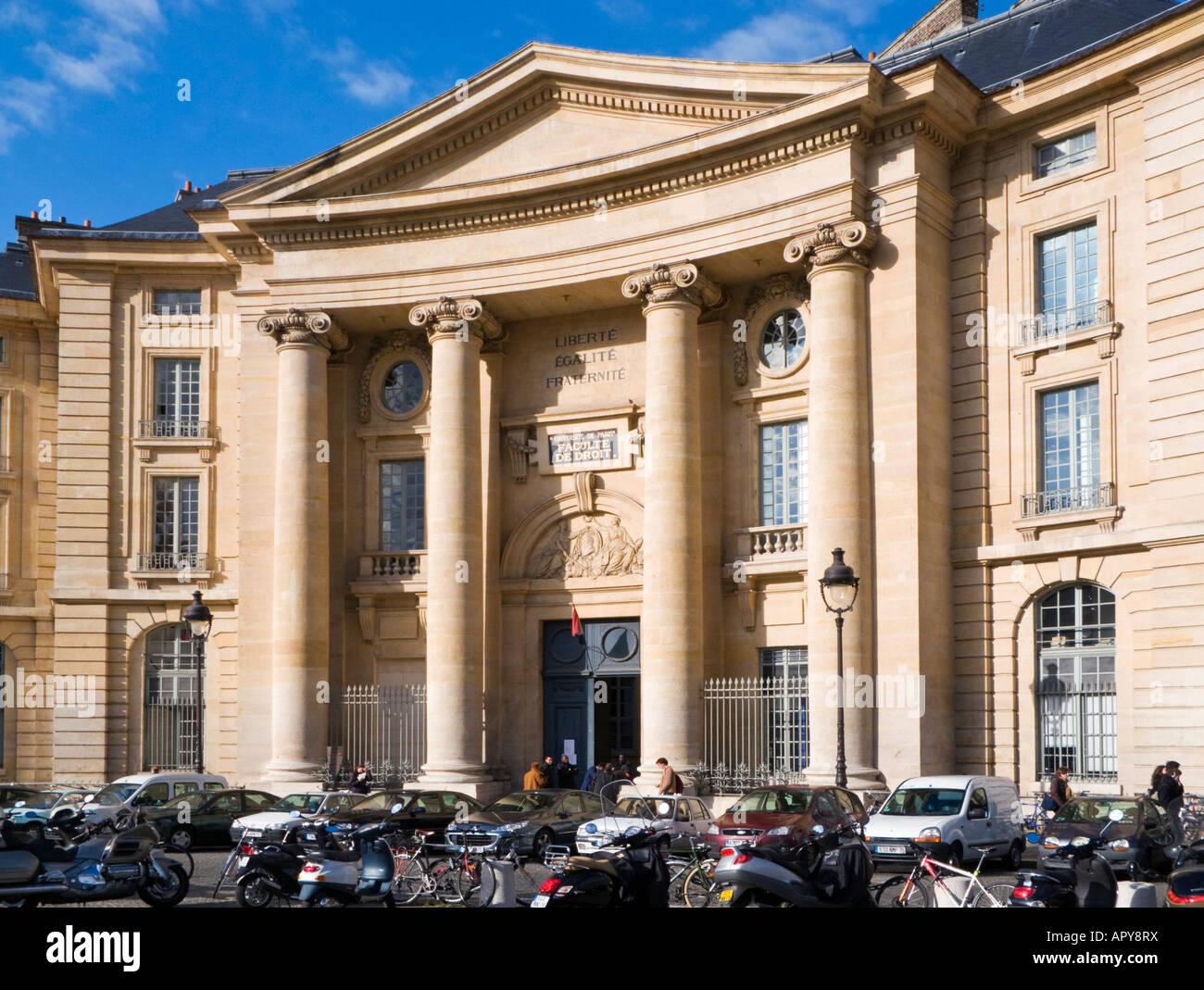 Universite de Paris Faculte de Droit, Paris, France Europe - Stock Image