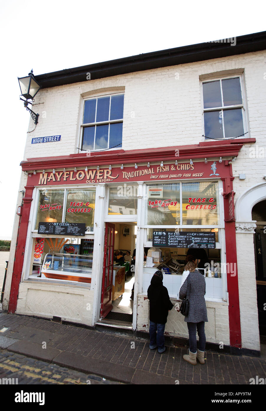 united kingdom essex old leigh on sea the mayflower fish and chip shop Stock Photo