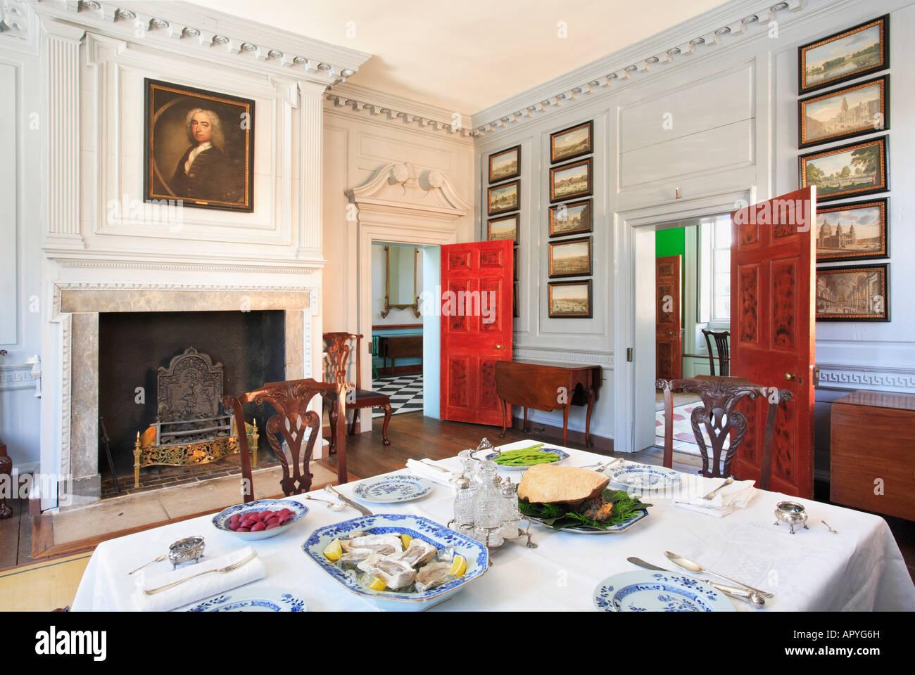 Dining Room Historic Carlyle House Alexandria Virginia USA