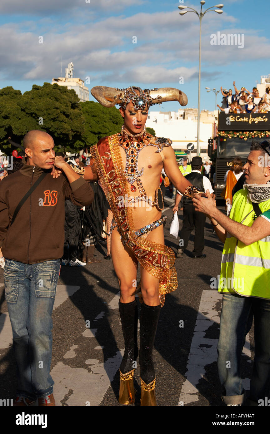 Drag Queen At 2008 Las Palmas Carnaval On Gran Canaria In The Canary Stock Photo Alamy