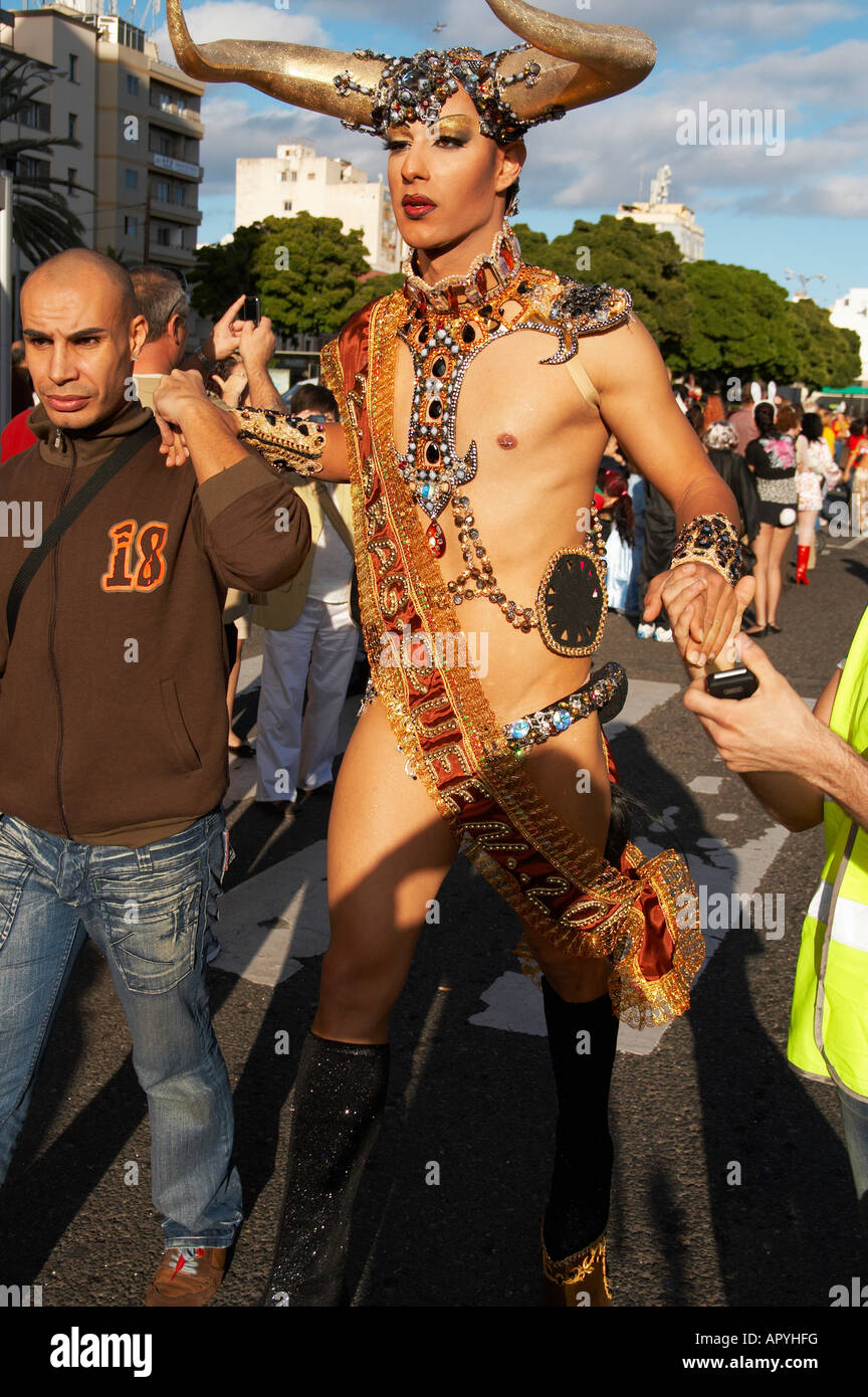 cf32baa5697 Drag queen at 2008 Las Palmas carnaval on Gran Canaria in the Canary islands  - Stock