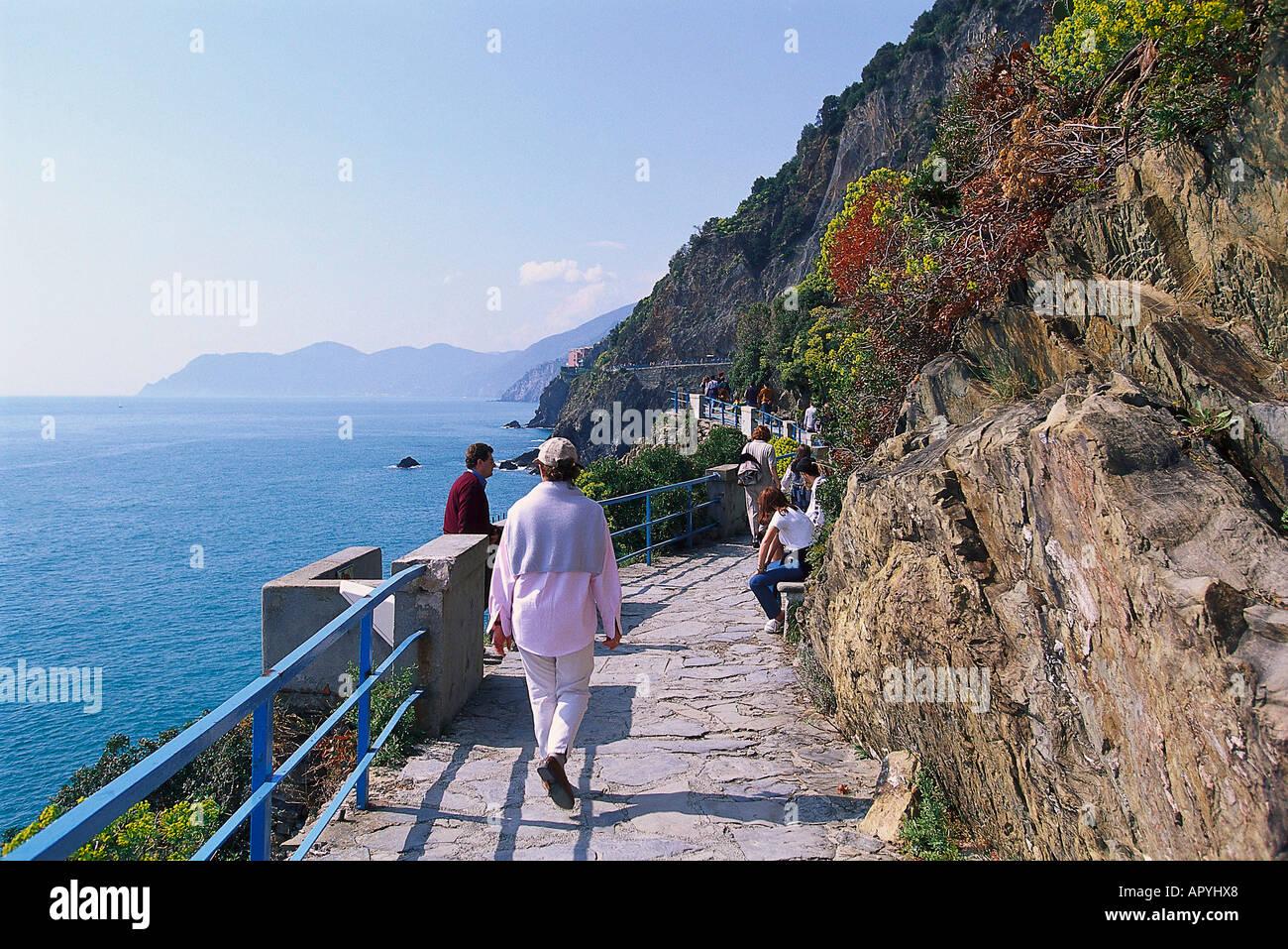 Via del Amore, Cinque Terre, Ligurien Italien - Stock Image