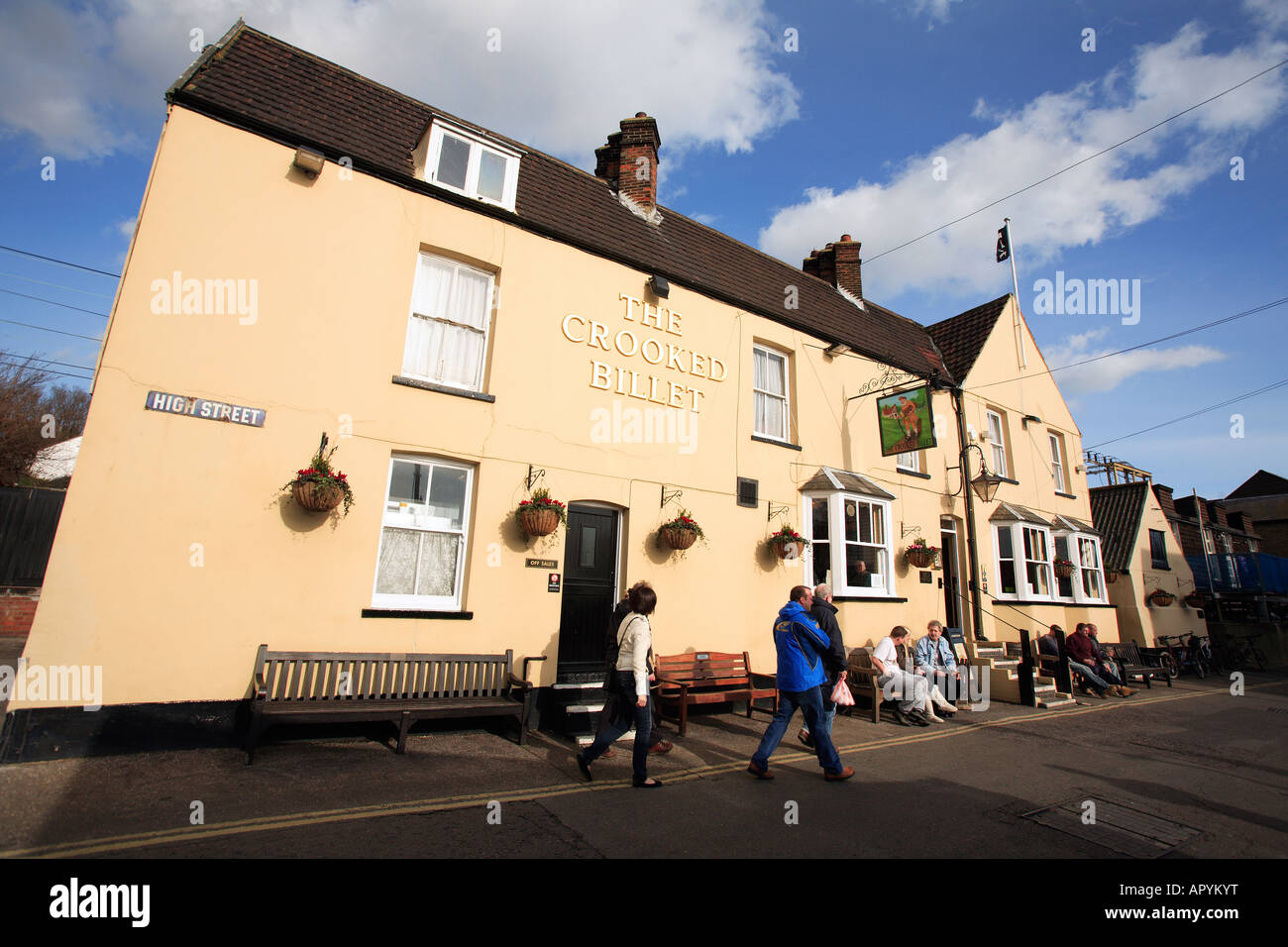 united kingdom essex old leigh on sea the crooked billet public house - Stock Image