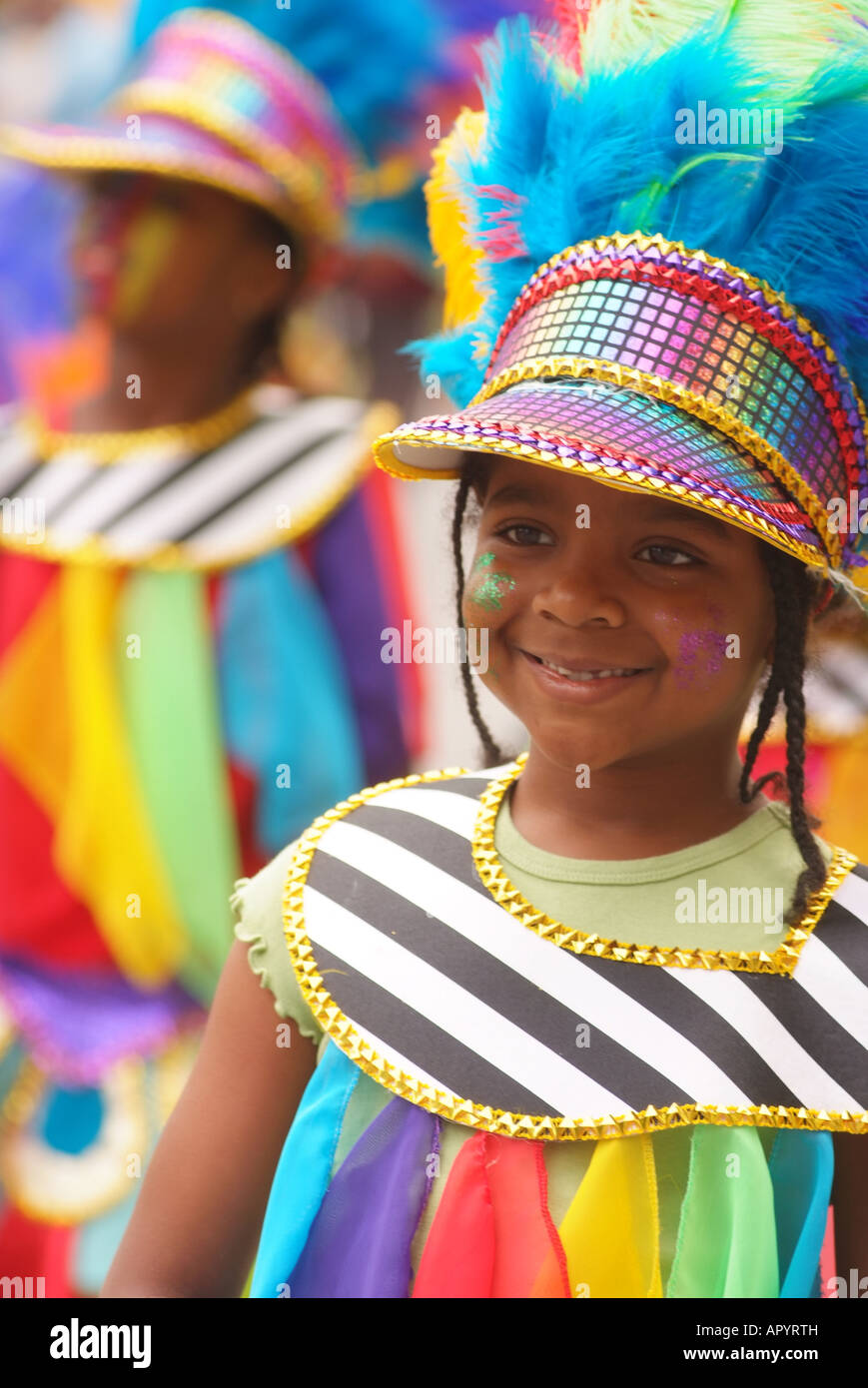 CANADA Quebec Montreal carifest A Festival Parade of the Caribbean nations and islands - Stock Image