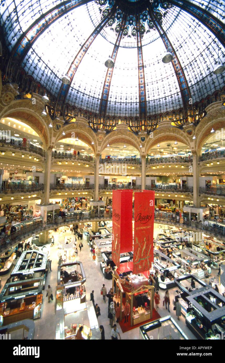 EU FR France Region Ile De Paris 9 Arrondissement The Interior Of Galeries Lafayette