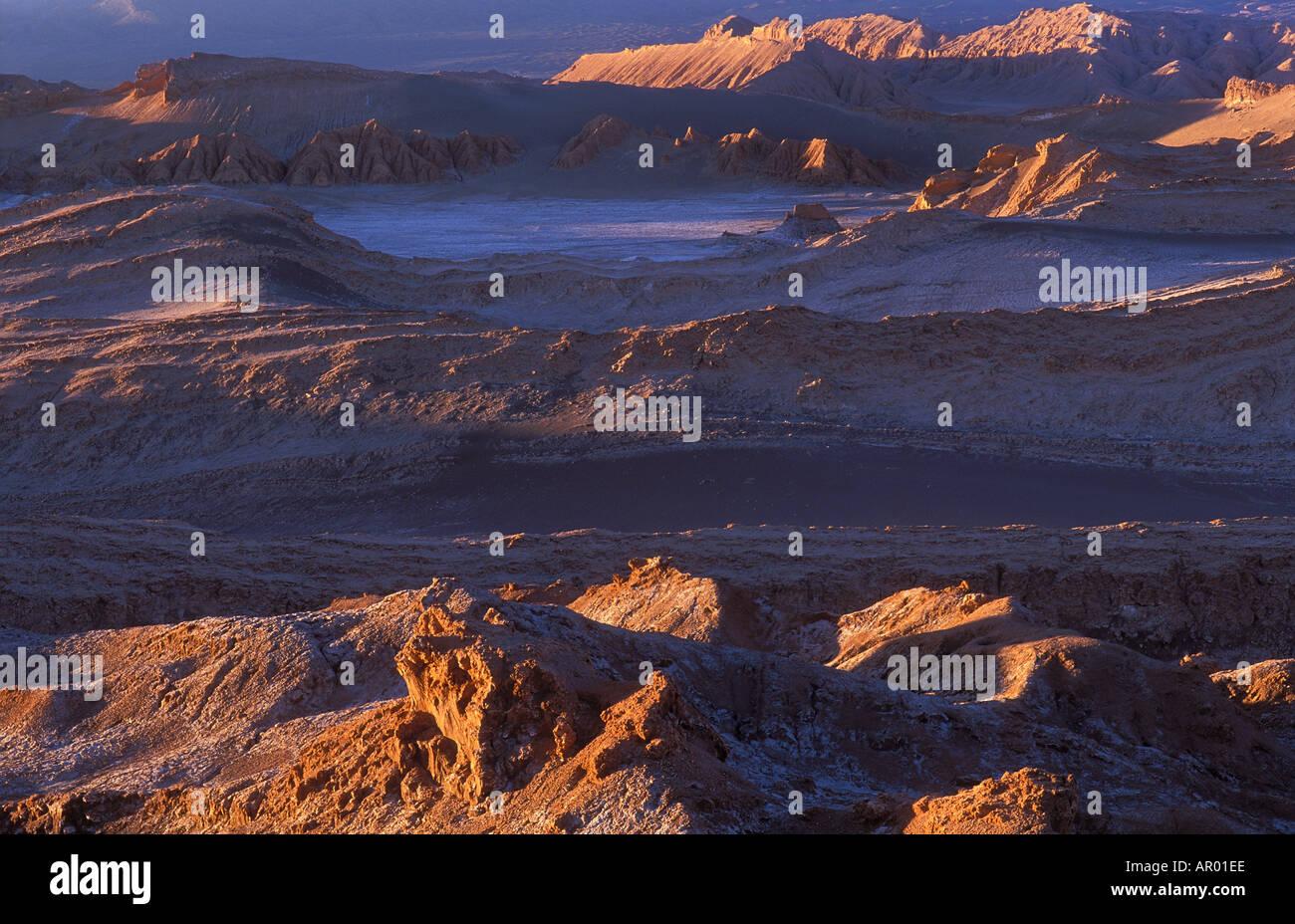 Valle de la Luna nr San Pedro Atacama Desert Chile - Stock Image