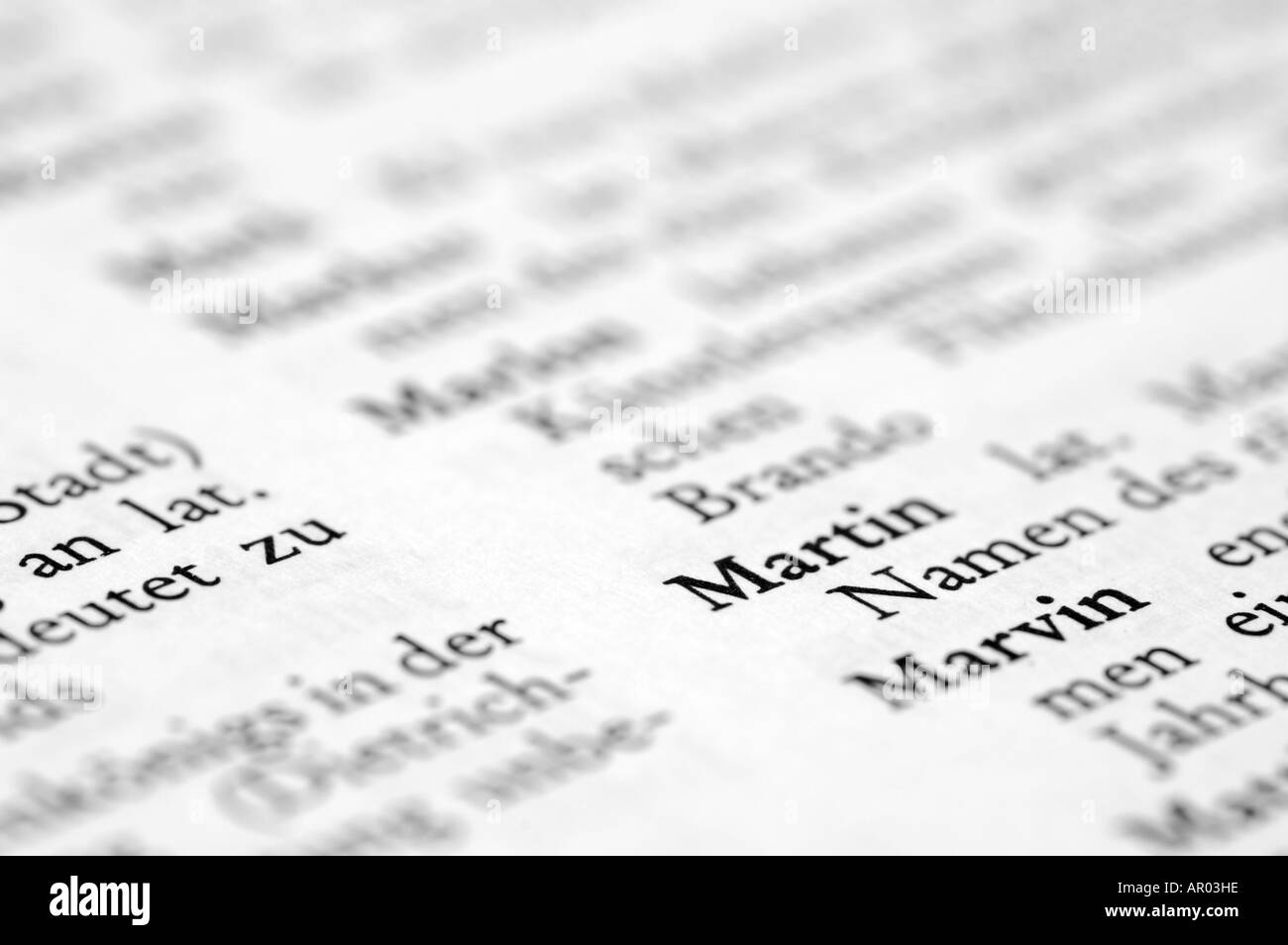 German first names Stock Photo: 9082461 - Alamy