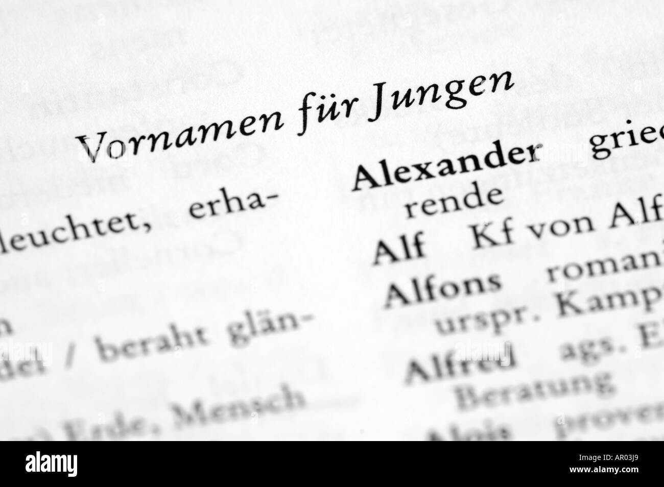 German first names Stock Photo: 9082472 - Alamy