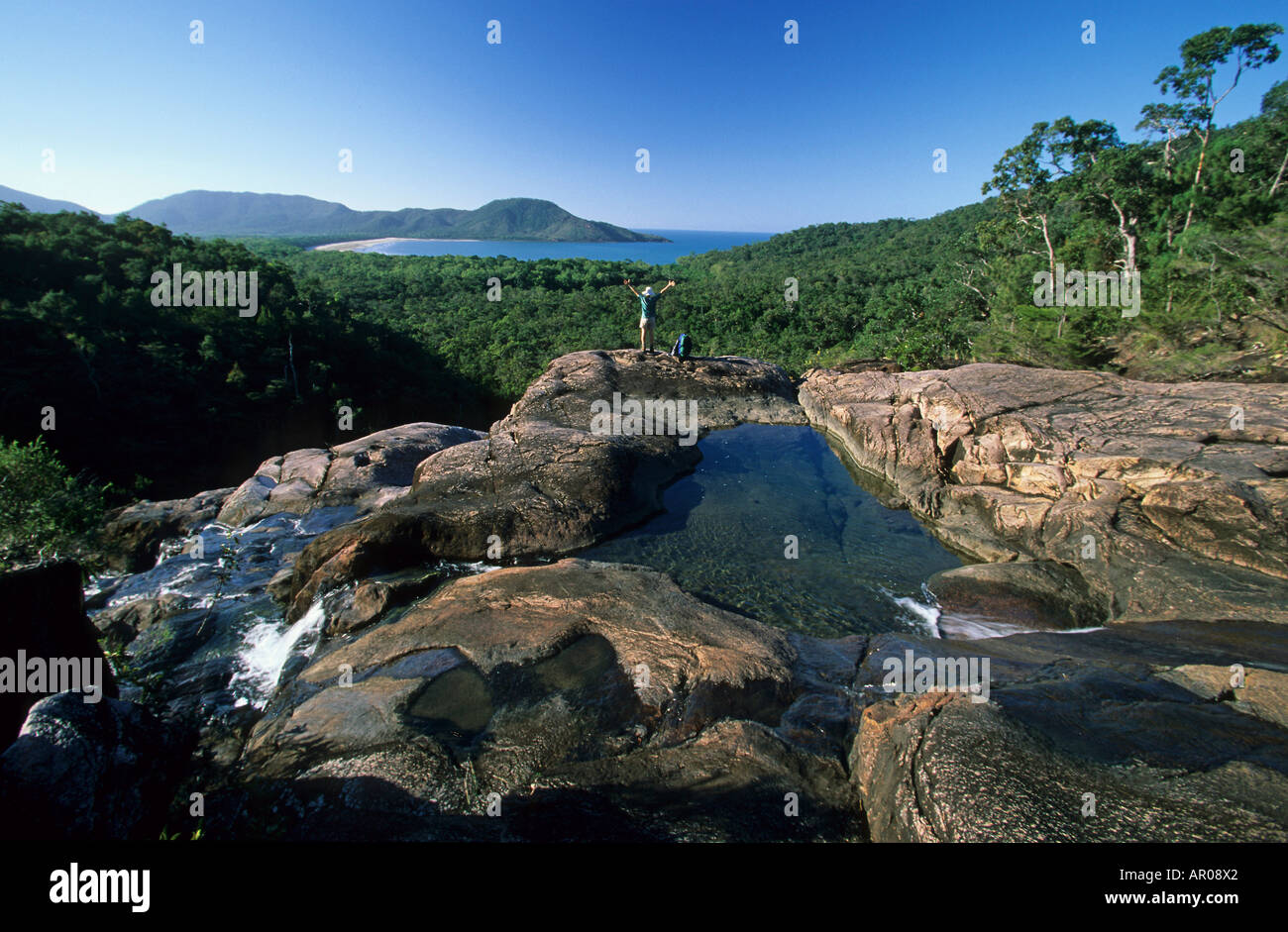 Hinchinbrook Island, bush walk, Australien, Queensland, Hinchinbrook tropical Island, Thorsborne bushwalking trail - Stock Image