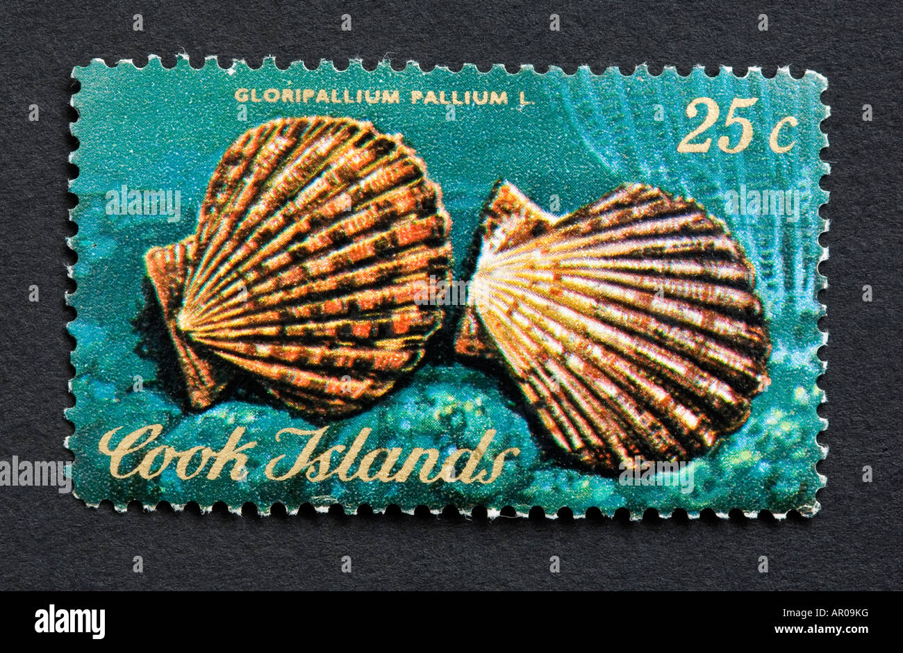Cook Islands postage stamp - Stock Image