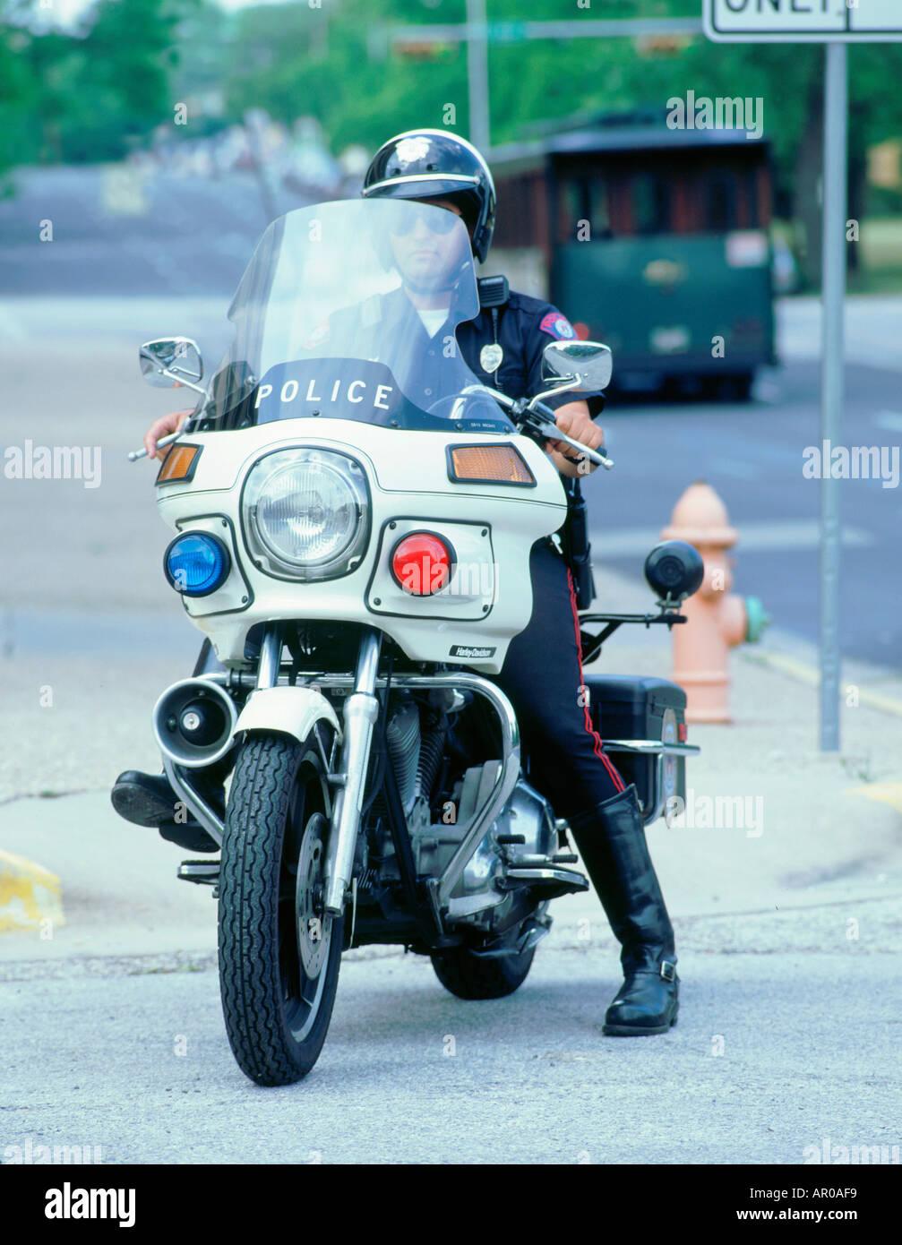Harley Davidson Police Bike Stock Photos & Harley Davidson Police
